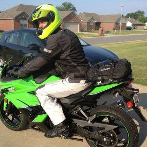 Rolling out for Pensacola, FL on my Ninja 250 -- 6/17/12.