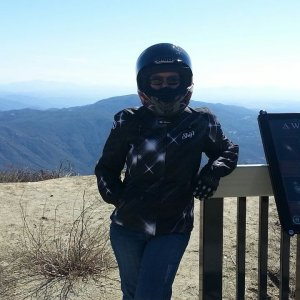 Palomar Mountain - Love my Shoei helmet. Lighter and more comfy!
