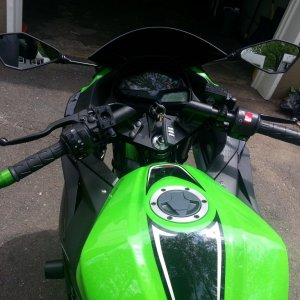 Kawi 300 green Bar Ends