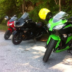 The 300 traveled the Smokies with her siblings, The Ninja 650 and ZX14. 6/2013