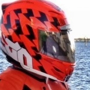 Helmet Hi Viz Orange Icon Airmada Stack with silver Icon Optics visor