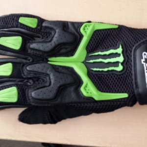 Alpinestars Riding Gloves Monster Energy!