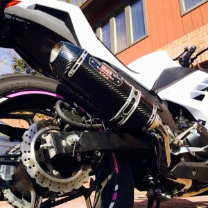 Different angle of new Full Yoshimura Exhaust.