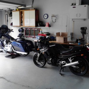 Stored away for the winter with the Street Glide