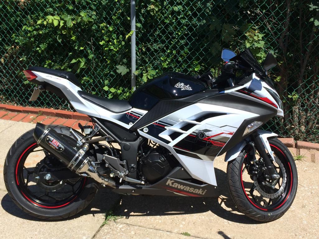 Kawasaki ninja 300 forum first 2014 white se ninja with white tank - Ninja 300 forum ...